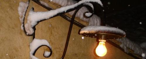 Patio en invierno