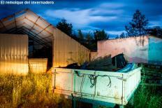 El remolque del invernadero